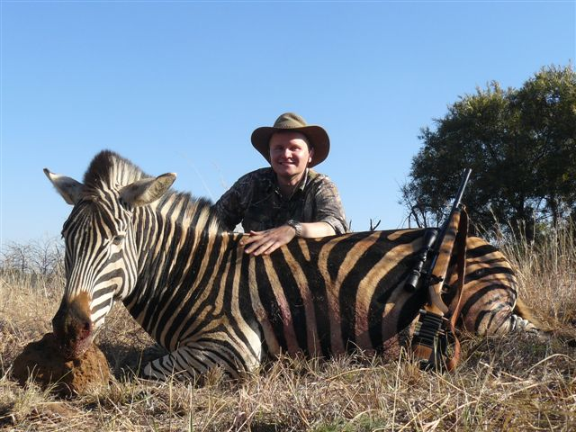 Matt with his 2nd Zebra